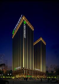 中国邮政储蓄银行楼顶大字跟楼体亮化